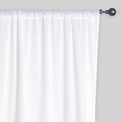 "White Cotton Voile Curtains, Set of 2 - 42"" x 84"" - World Market/Cost Plus"