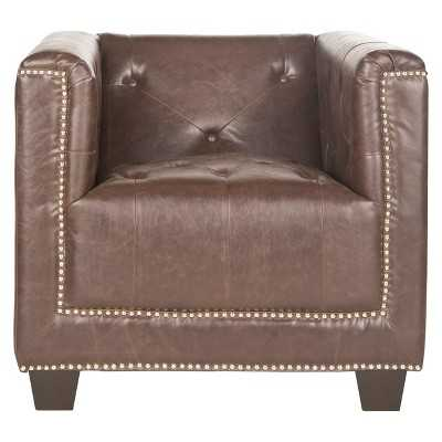 Safavieh Bentley Club Chair-Espresso - Target