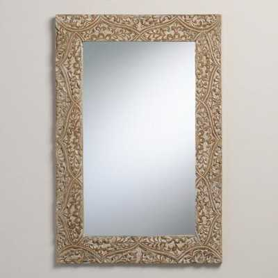 Gray Carved Fleur Mirror - World Market/Cost Plus