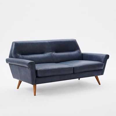 Denmark Leather Loveseat - West Elm