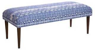 "Colette 49"" Bench, Indigo - One Kings Lane"