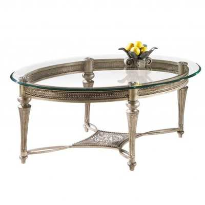 Galloway Oval Cocktail Table w/ Glass Top - Overstock