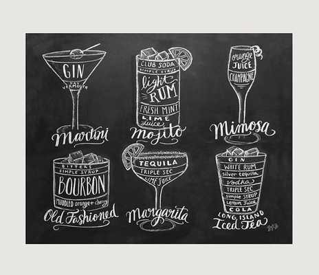 Kitchen Art - Bartender Gift - Chalk Art- 11 x 14- Unframed - Etsy