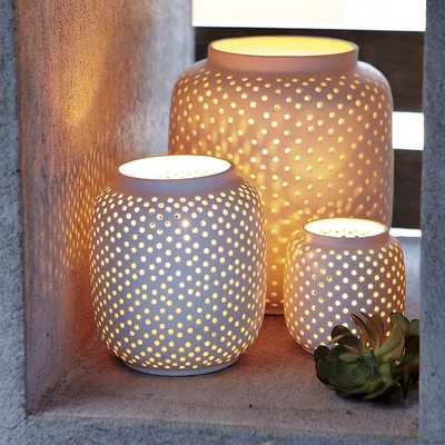 Porcelain Hurricanes - Dotted - Small - West Elm