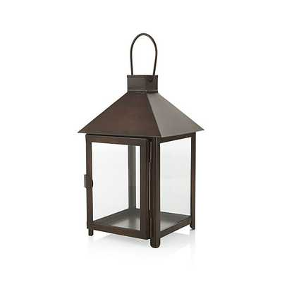 Knox Small Bronze Metal Lantern - Crate and Barrel