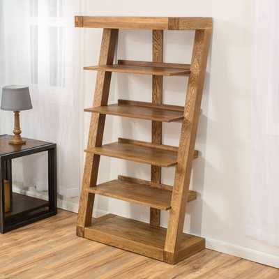 "Jacob 64.96"" Leaning Bookcase - Wayfair"