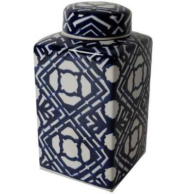Blue and White Jar - Large - High Fashion Home