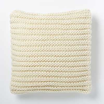 Horizontal Double Rib Pillow Cover - Ivory - West Elm
