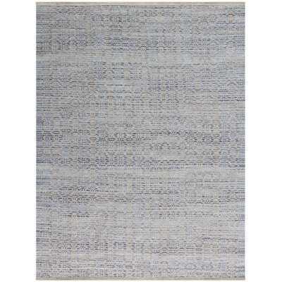 Zola Polo Flat-Weave Blue Area Rug - Wayfair