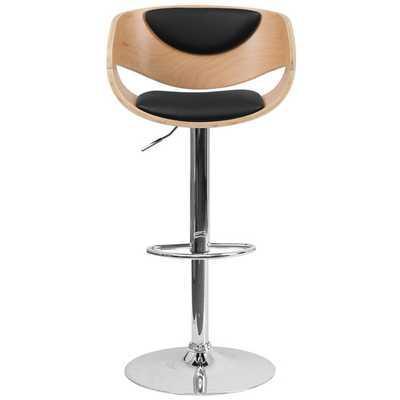 Adjustable Height Swivel Bar Stool with Cushion - AllModern