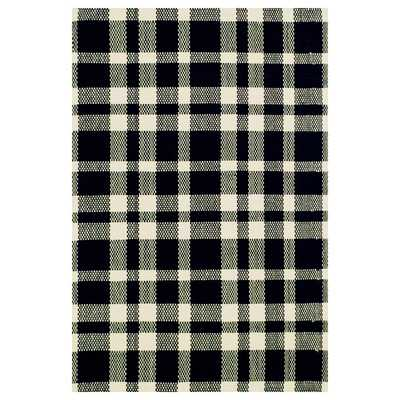 Woven Tattersall Black Area Rug - Wayfair