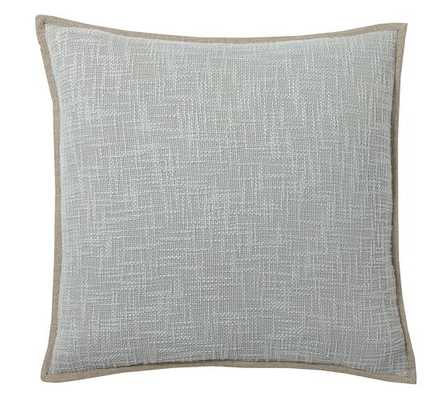 "Basketweave Pillow Cover - 20"" square - Smoke Gray - Insert Sold Separately - Pottery Barn"