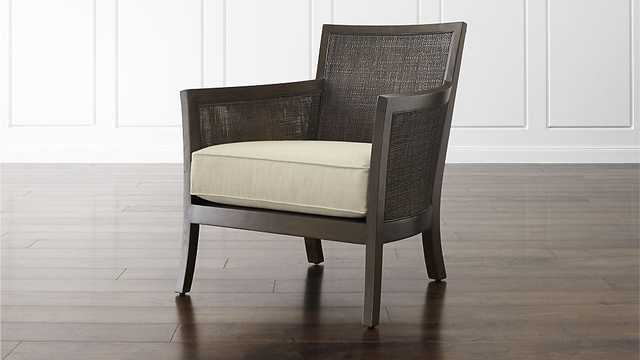 Blake Carbon Grey Chair with Fabric Cushion - Crate and Barrel