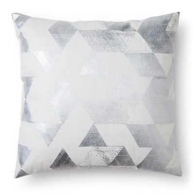 "Nate Berkusâ""¢ Metallic Triangle Decorative Pillow - Cream - 18""sq- Polyester fill insert - Target"