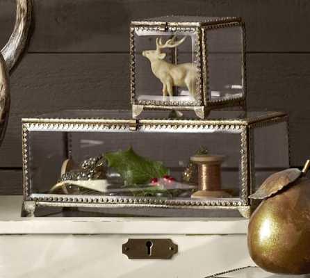 Elaine Glass Display Box, NARROW - Pottery Barn