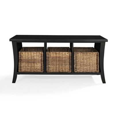 Wallis Entryway Storage Bench - brookstone.com