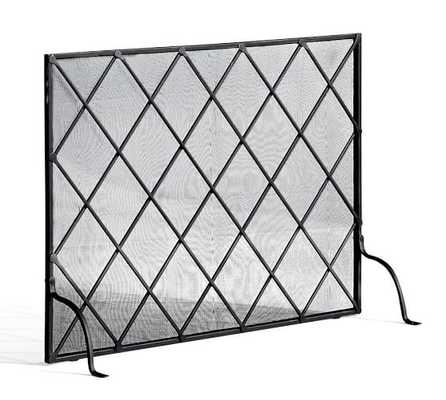 LATTICE FIREPLACE SINGLE SCREEN - Pottery Barn