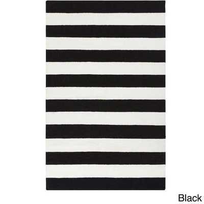 Melun Flatweave Wool Striped Area Rug (5' x 8') - Overstock