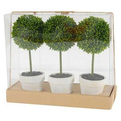 "Topiary Gift Box Set of 3 - Green (9.5"") - Target"