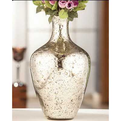 Silver Tone Vase - Wayfair