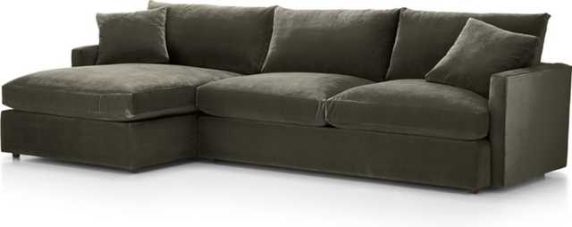 Lounge II Petite 2-Piece Sectional Sofa - Crate and Barrel