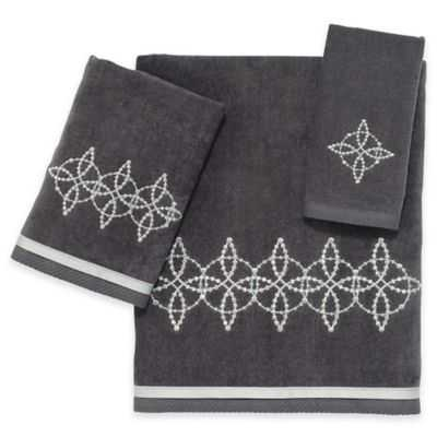 Avanti Sophia Fingertip Towel in Granite - Bed Bath & Beyond