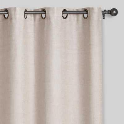 "Natural Linen Grommet Top Curtains, Set of 2 - 54""W x 96""L - World Market/Cost Plus"