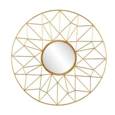 Burney Round Decorative Wall Mirror - Wayfair