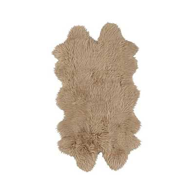 "Sheepskin Almond 21""x37"" Throw/Rug - Crate and Barrel"