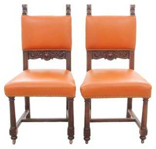 R. J. Horner Leather Chairs, Pair - One Kings Lane