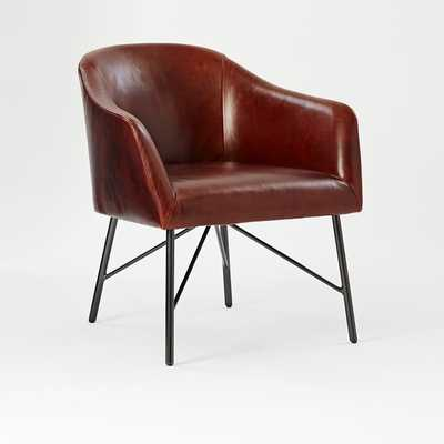 Leather Bucket Chair - West Elm