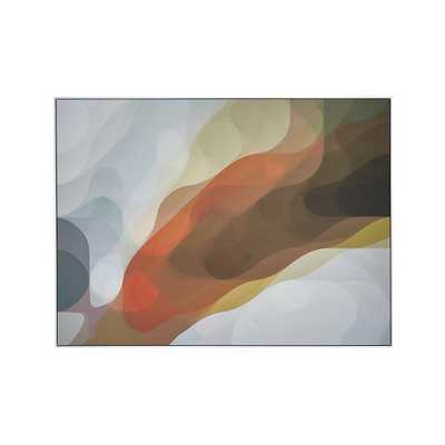 """Plume Print - 58""""Wx1.25""""Dx43""""H - Framed - Crate and Barrel"""