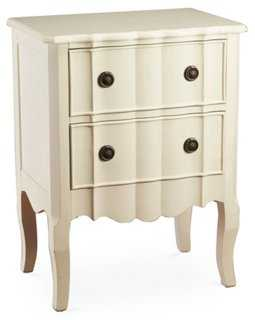 Fleur 2-Drawer Chest, Distressed White - One Kings Lane