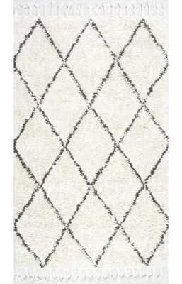 Marrakesh Shag Rug - 8' x 10' Rectangle - Natural - Rugs USA