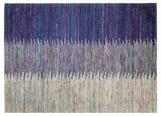"Neima Rug, Blue/Ivory - 5'9"" x 8'9"" - One Kings Lane"