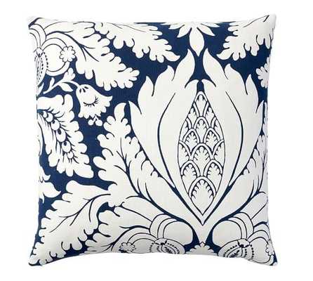 Damask Print Pillow Cover -  24x24, No Insert - Pottery Barn