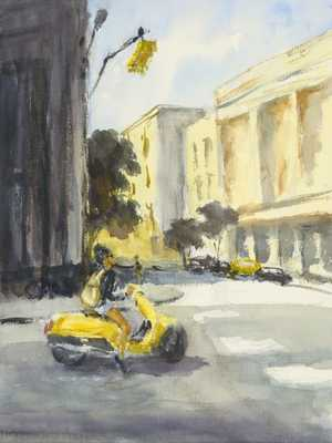 Yellow Moped - Home Decorators