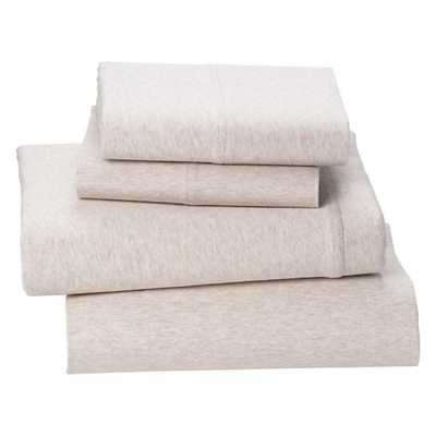 Full Natural Pure Jersey Sheet Set - Land of Nod