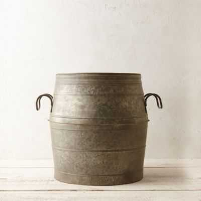 Galvanized Barrel Planter - shopterrain.com