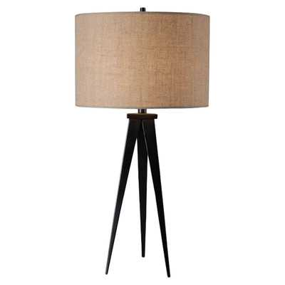 Foster Table Lamp with Drum Shade - Bronze - Wayfair