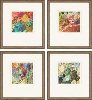 "PALETTE WALL ART - SET OF 4-19""x17""-Framed - Home Decorators"