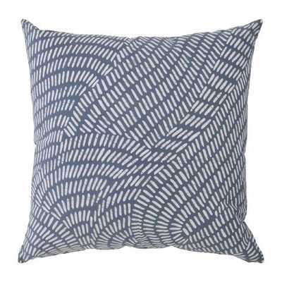 "Rain Pillow Sham-24""Sq, Swaziland, with insert - Domino"