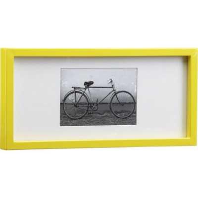 Rectangular yellow hi-gloss 4x6 picture frame - Domino