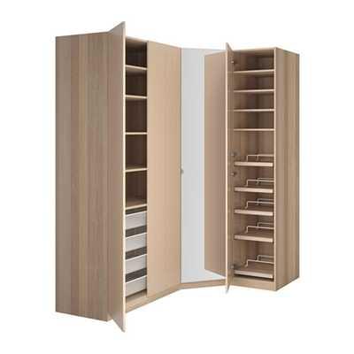 PAX Wardrobe, white stained oak effect, Nexus Vikedal - Ikea