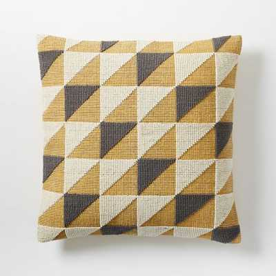 "Triangle Geo Pillow Cover - 20""sq.-Horseradish (Without insert) - West Elm"