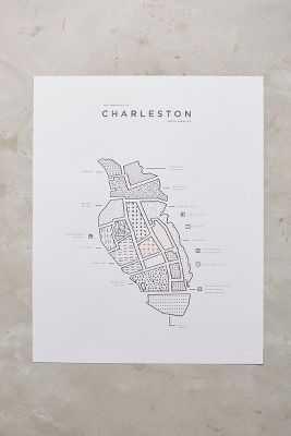 Neighborhood Patterns City Map, Charleston - Anthropologie