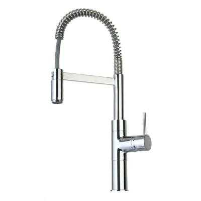 Elba Single-Handle Pull-Down Sprayer Kitchen Faucet in Chrome - Home Depot
