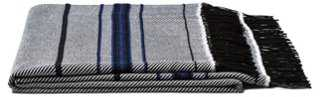 Large Twill-Weave Throw, Black - One Kings Lane
