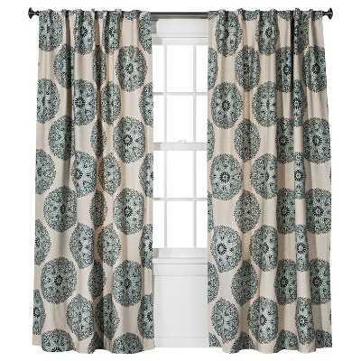 "Medallion Curtain Panel-95""-Blue - Target"