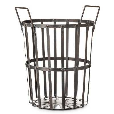 "Round Basket- Gray - Large - The Industrial Shopâ""¢ - Target"